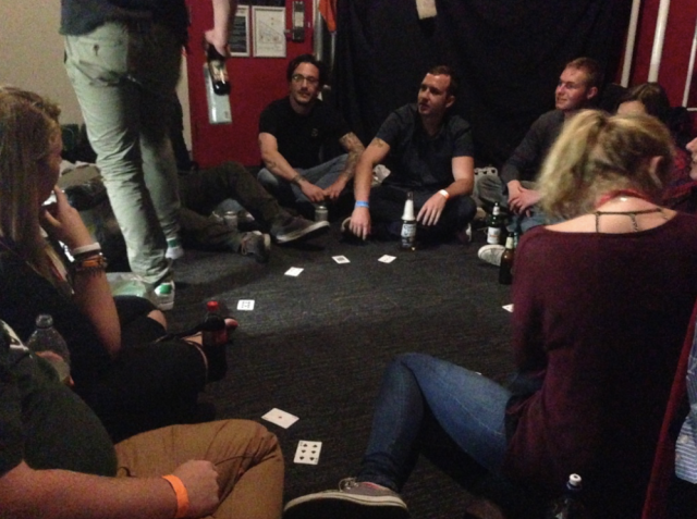 drinking games at the hostel