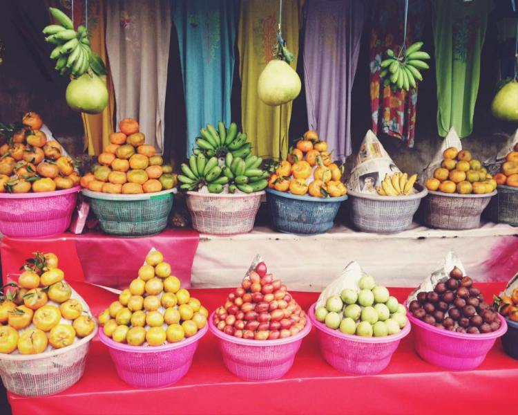 fruit stands in Indonesia