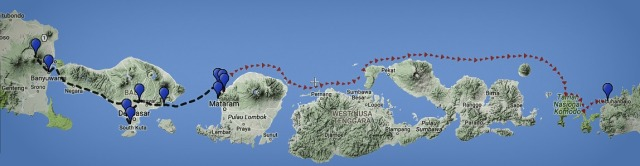 One month backpacking in Indonesia