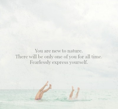 You are new to nature | Kimberly Hetherington | Art Therapy with Kimberly