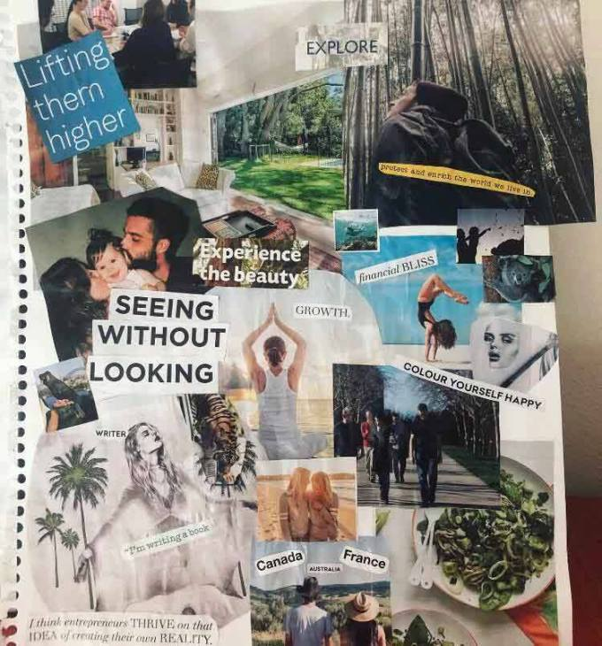 My vision board, 2019   Life After Elizabeth