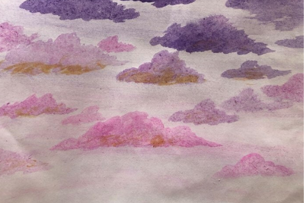 Art Therapy in a Mental Ward - clouds at sunset | Kimberly Hetherington | Art Therapy with Kimberly