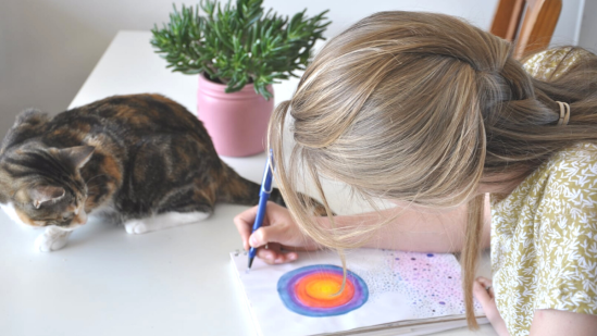 Online event: Art Therapy for Well-Being | Art Therapy with Kimberly